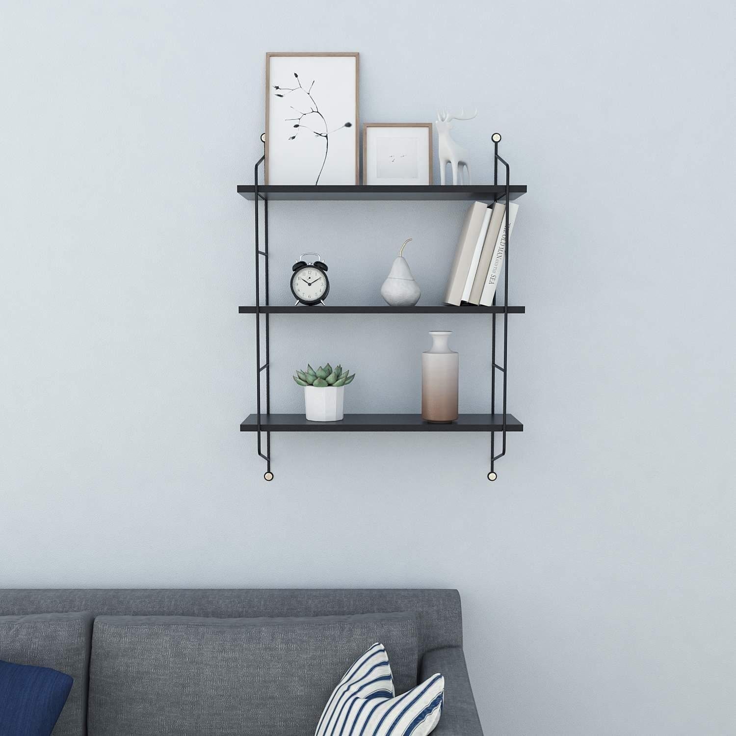Amazon.com: Utheing 3 Tier Floating Wall Shelves, Wood Rustic ...