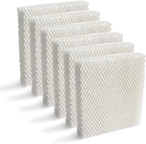 IN VACUUM 6 Pack Humidifier Replacement Filter T for Honeywell HEV615 and HEV620 Humidifier Wicks, Compatible with Part # HFT600
