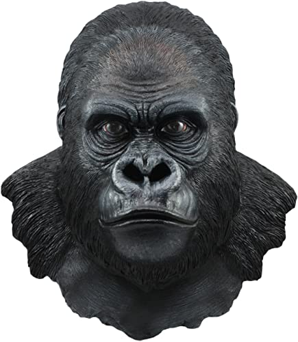 Ebros Congo Large African Silverback Primate Gorilla Wall Decor 16.5 Tall Ape King Kong Wall Mount Bust Sculpture Plaque