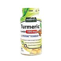 Liposomal Turmeric-Curcumin | 500mg per pill | Piperine + Cyclodextrin | Nature's Essentials | Maximum Absorption Formula | 2 Month supply | NON-GMO | Gluten-free | Vegetarian | Lab Certified | USA |
