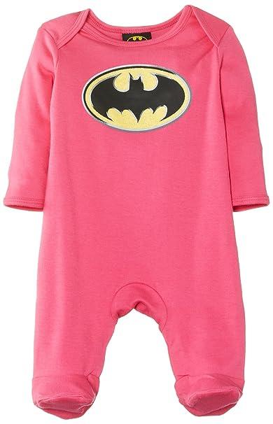 Batman - Pijama para bebé, color rosa, talla 0-3 meses
