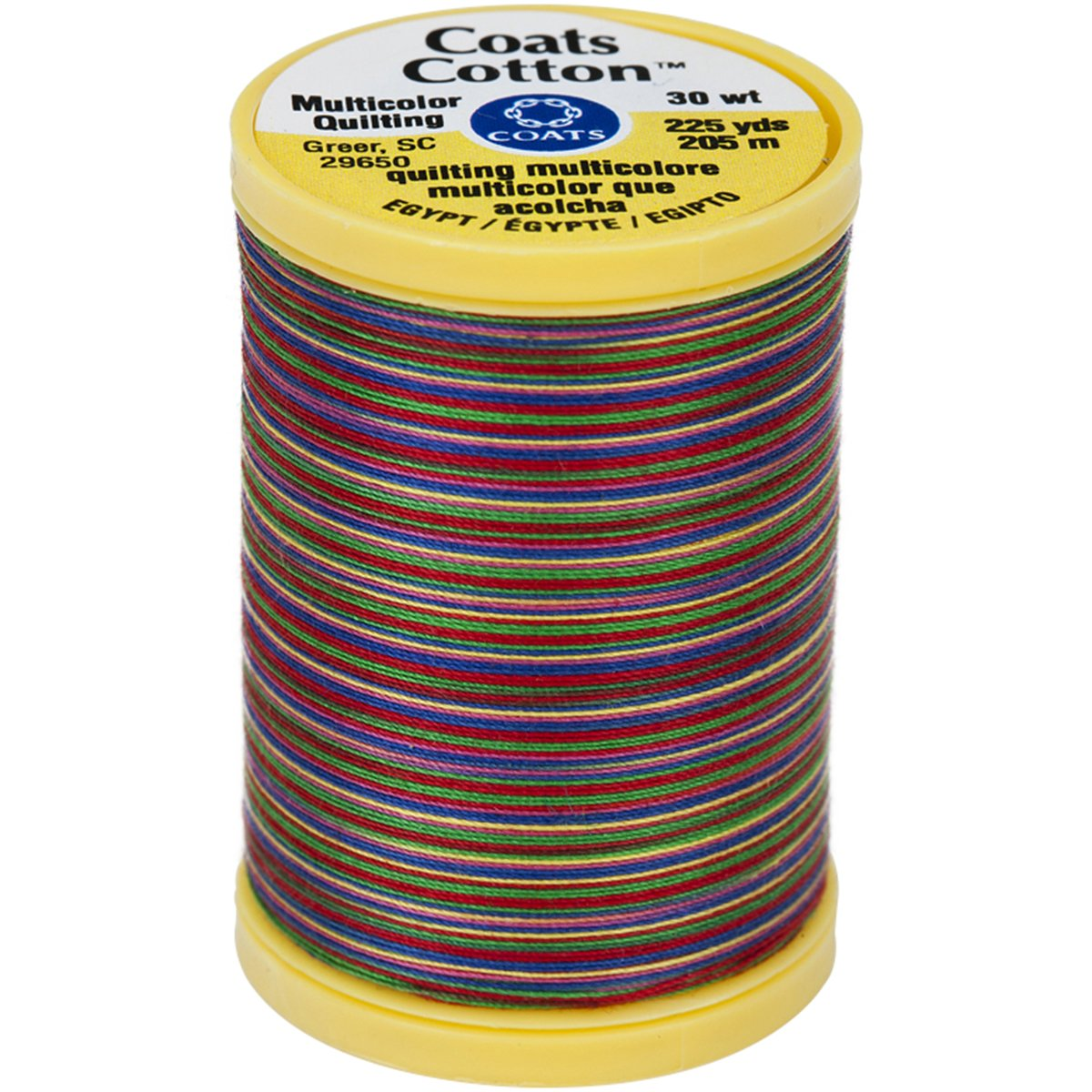 Coats Thread & Zippers Coats Cotton Machine Over the Rainbow Quilting Thread, 225 yd, Multicolor S972-0813