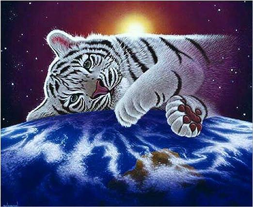 Tiger DIY 5D Embroidery Diamond Sticker Cross Stitch Painting Craft Home Decor