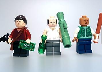 Lego GTA V Trevor, Michael & Franklin custom minifigures
