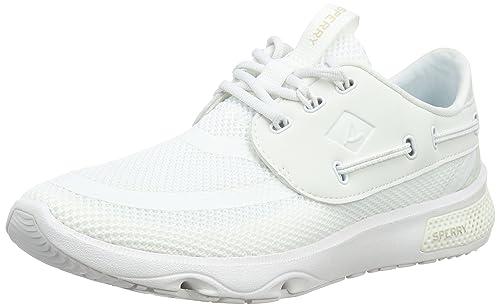 Sperry Top-Sider Sperry 7 Seas 3-Eye, Zapatillas Unisex Adulto, Blanco (White), 42.5 EU