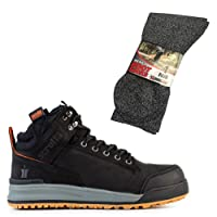 Scruffs Switchback Safety Hiker Work Boots with Grey Boot Socks