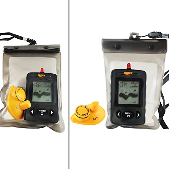 Amazon.com: Lucky Wireless 40M Black Dot Matrix Fish Finder ...