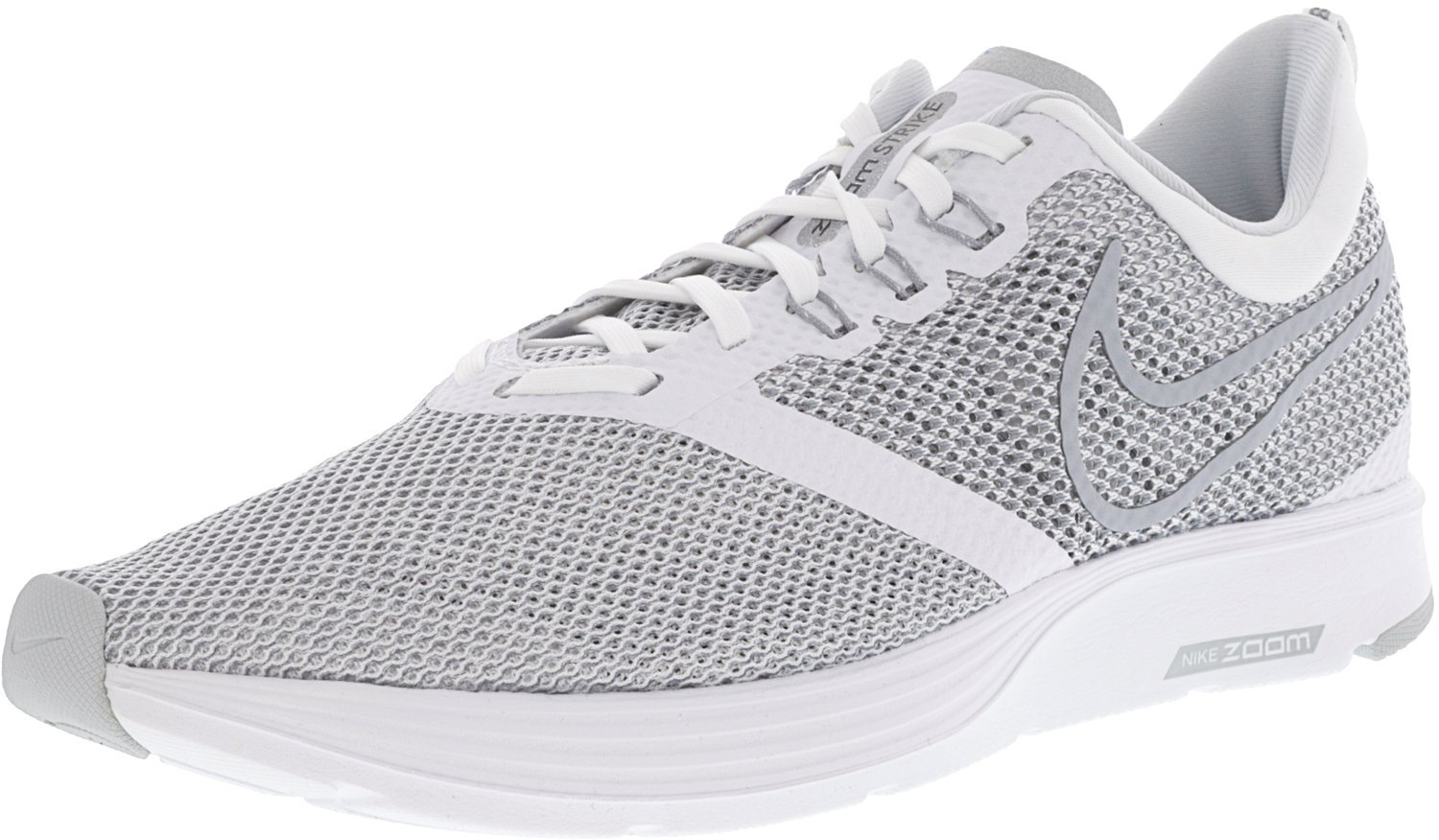 NIKE Shoe Women's Zoom Strike Running Shoe NIKE B06XTKQY9X 11.5 D(M) US|White-wolf Grey ba274b