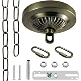 ECUDIS Light Fixture Canopy Kit, 5 Inches Diameter and 6 Feet Pendant Light Chain Includes Mounting Hardware for…