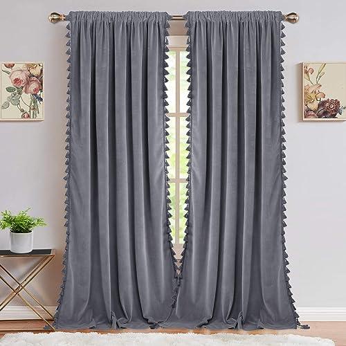 Best window curtain panel: Velvet Curtains Window Curtain Panel