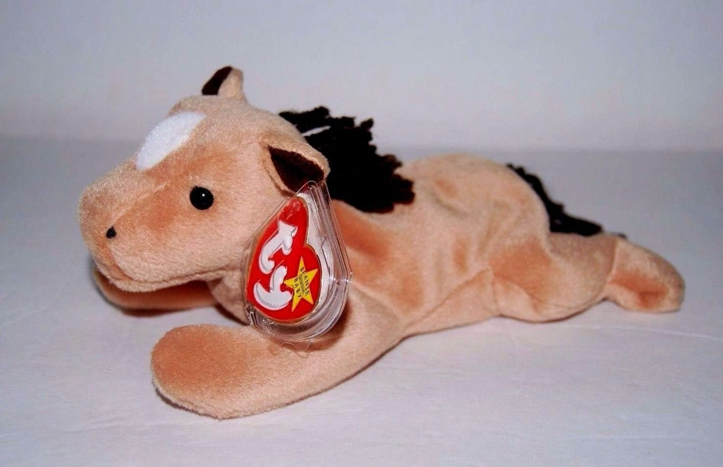 Coarse Yarn Mane with Star Ty Beanie Babies Derby the Horse
