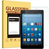 SPARIN Screen Protector All Fire HD 8 (2018/2017/2016/2015 Release), [Tempered Glass] [HD Clear] Screen Protector Fire HD 8 & All Fire HD 8 Kids Edition Tablet