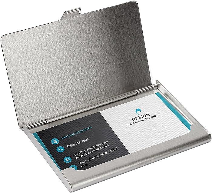 Top 10 Office Business Card Holder 4 Pocket Metal