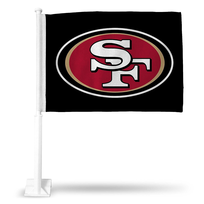 NFL San Francisco 49ers Car Flag with White Pole Black