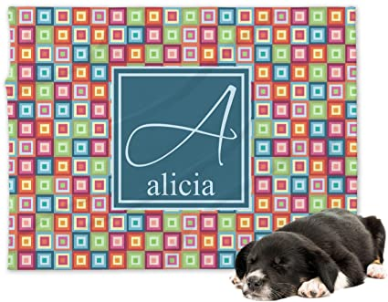 966755ae7907 Image Unavailable. Image not available for. Color: RNK Shops Retro Squares Minky  Dog Blanket ...