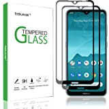 (2 Pack) Beukei for Nokia 6.2 and Nokia 7.2 Screen Protector Tempered Glass, Glass with 9H Hardness, with Lifetime Replacement Warranty