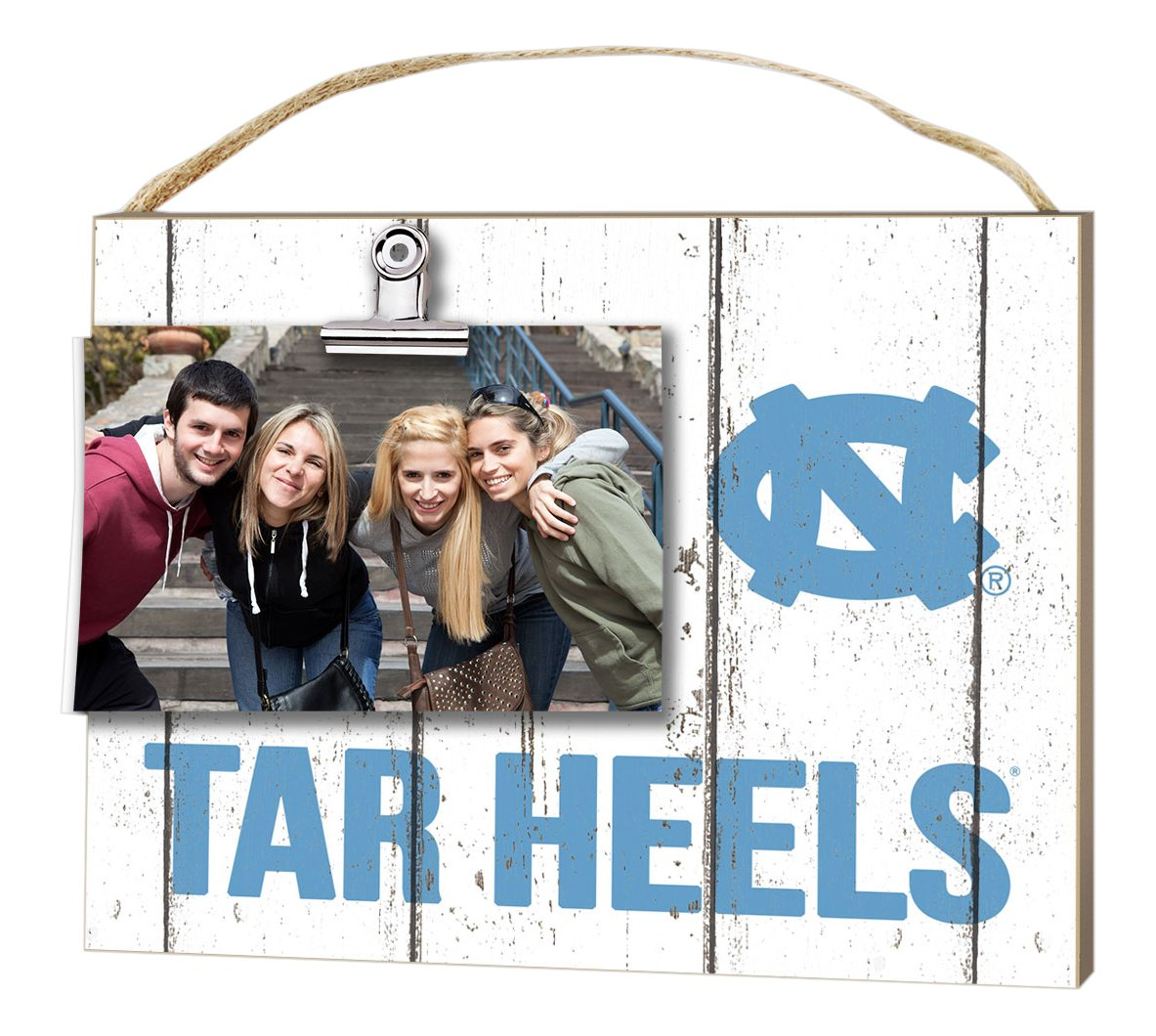 KH Sports Fan 10''x8'' North Carolina (Chapel Hill) Tar Heels Clip It Weathered Logo Collage Photo Frame by KH Sports Fan