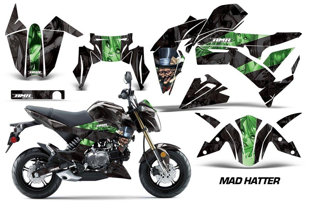 Kawasaki Z125 PRO 2017 MX Dirt Bike Graphic Kit Sticker Decals Z 125 HATTER GREEN Amrracing