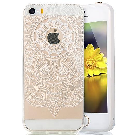 2 opinioni per Cover Custodia la iPhone 5/5S/SE silicone,Ukayfe Copertura Elegante e Leggera