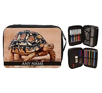 Personalizado leopardo animal de tortuga estuche escolar 193 ...