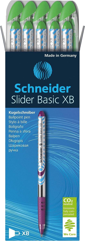 10 unidades color verde claro Schneider Slider XB 151211 Bol/ígrafo