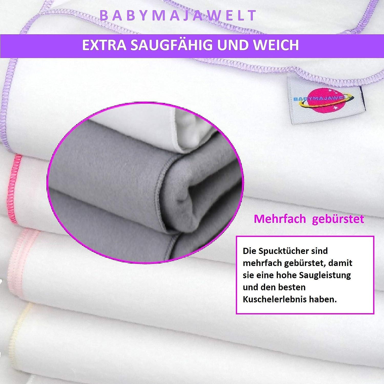 Babymajawelt Moltont/ücher Flanell wei/ß 80x80-5er M/ädchen Set SOFT