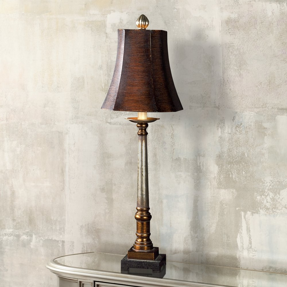 Uttermost 29058 Trent Buffet Lamp, Warm Bronze And Silver   Table Lamps    Amazon.com