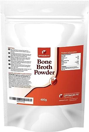Caldo de Hueso Puro de Res en Polvo - Péptidos de Colágeno Bovino Natural Alimentado con Pasto - Polvo Ultrafino de Proteína de Res Premium ...