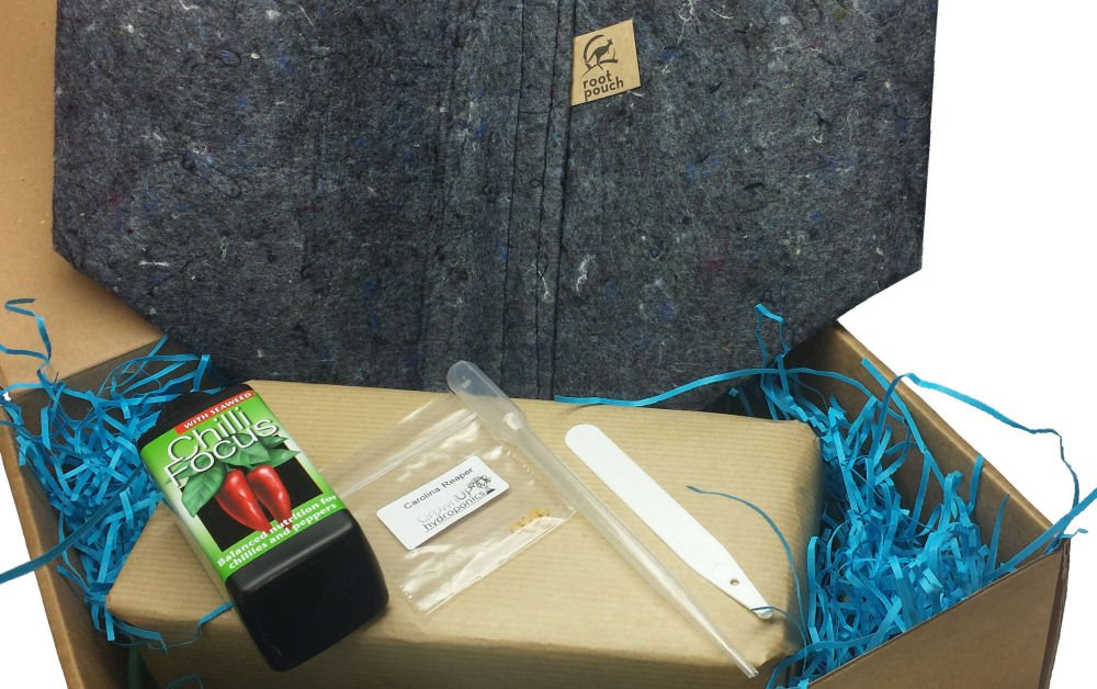 """""""Grow Your Own"""" Chilli Kits (7 Pot Brain Strain Red) Grown Up Hydroponics"""