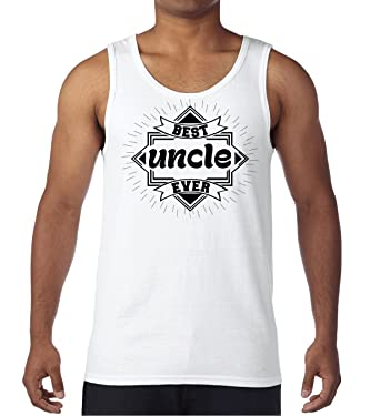 AW Fashions Best Uncle Ever - Gift Shirt Mens Tank Top (Small, White)