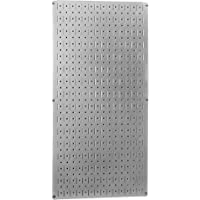 "Wall Control 30-GP-3216 GV 32"" x 16"" Galvanized Metal Pegboard Tool Board Panel"