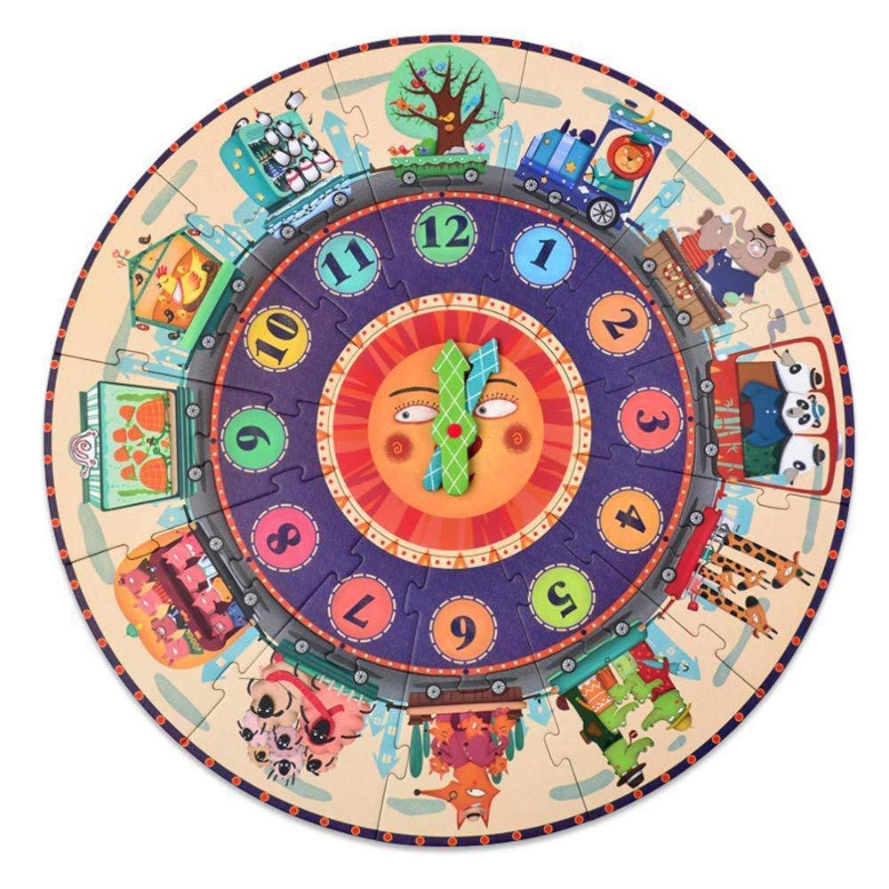 productos creativos QTDS Inteligente Juguete para niños niños niños Reloj Digital de Papel Grande Rompecabezas cognitivo 3-6 años de Edad Juguetes educativos  precioso