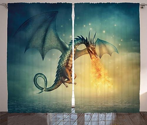 Ambesonne Fantasy Curtain
