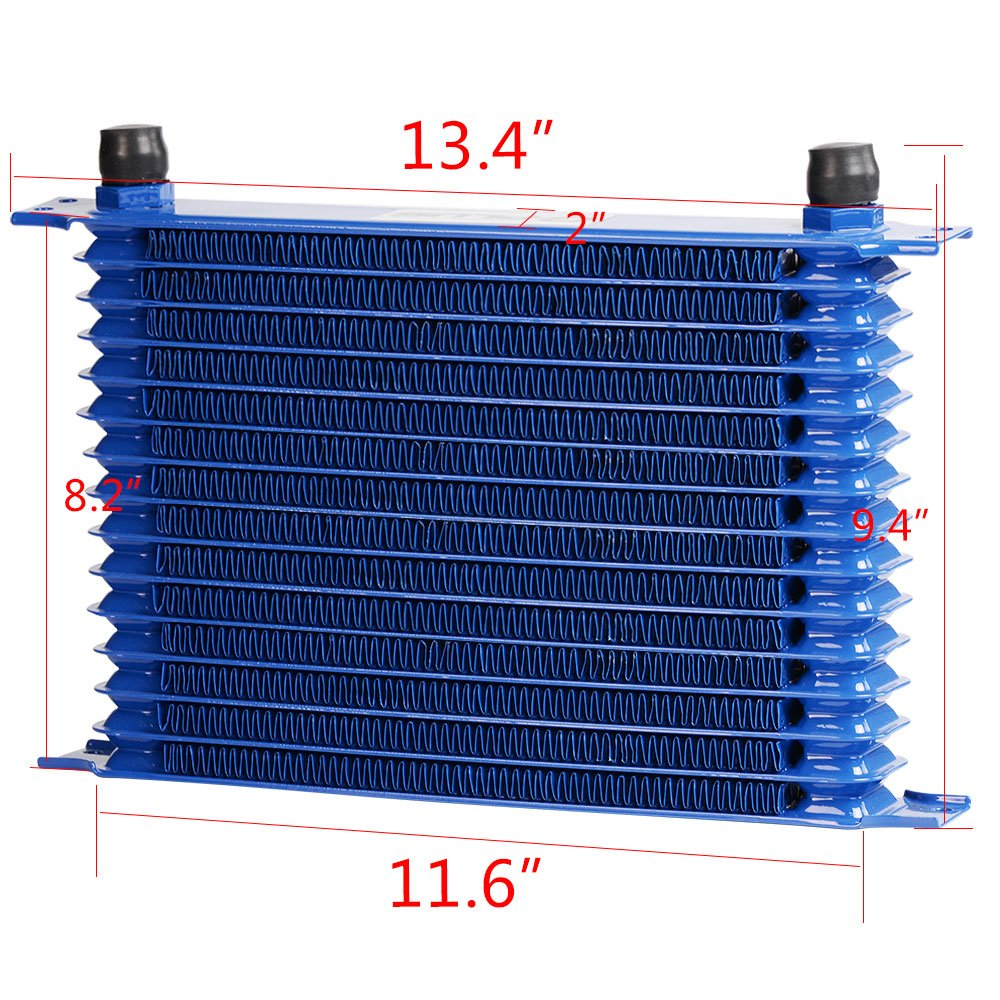 7 Electric Fan Kit Filter Adapter 15 Row AN10 Universal Aluminum Transmission Engine Oil Cooler