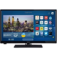 Digihome 24273SFVPT2HD Black 24Inch HD Ready Smart LED TV Intergrated WiFi Freeview Play 2x HDMI and 1x USB Port