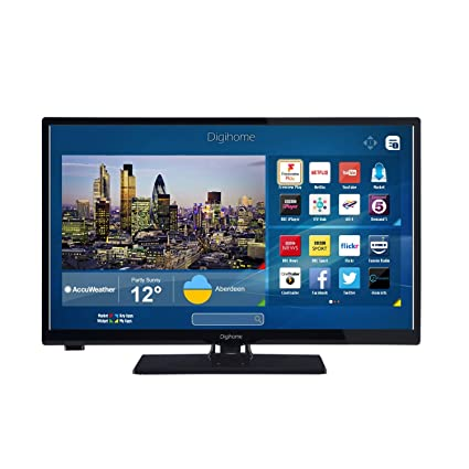 bba219ff1 Digihome 24273SFVPT2HD Black 24Inch HD Ready Smart LED  Amazon.co.uk   Electronics