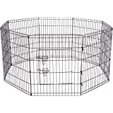 Dog Exercise Pen Pet Playpens for Dogs - Puppy Playpen Outdoor Back or Front Yard Fence Cage Fencing Doggie Rabbit Cats Playp