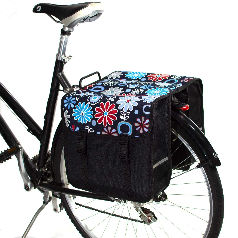 BikyBag-Beluko Clásica Doble Alforjas Bolsa para Bicicleta (Flores ...