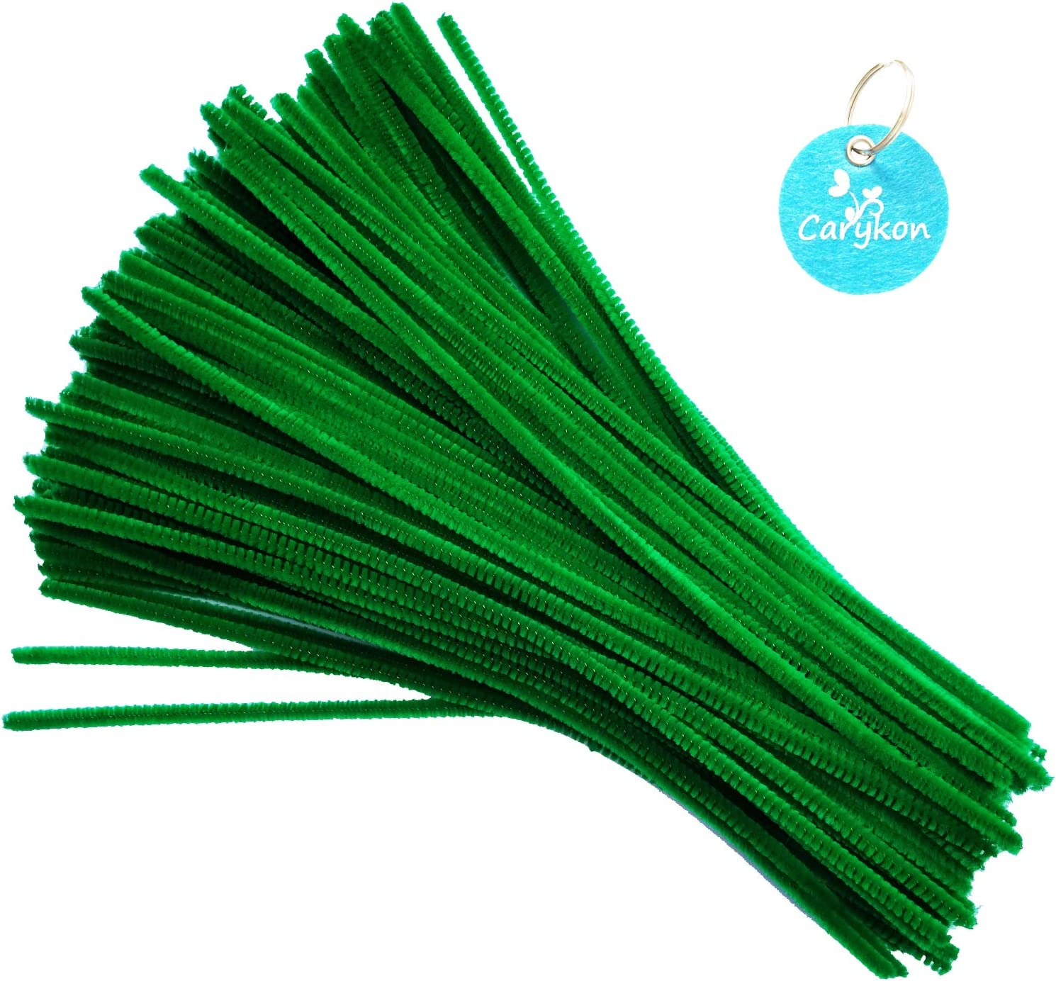 Green Carykon 100 PCS Fuzzy Chenille Stems Pipe Cleaners for Arts and Crafts