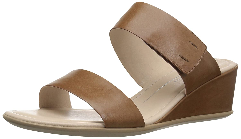 6f0d9fddadff Amazon.com  ECCO Women s Women s Shape 35 Wedge 2-Strap Slide Sandal  Shoes