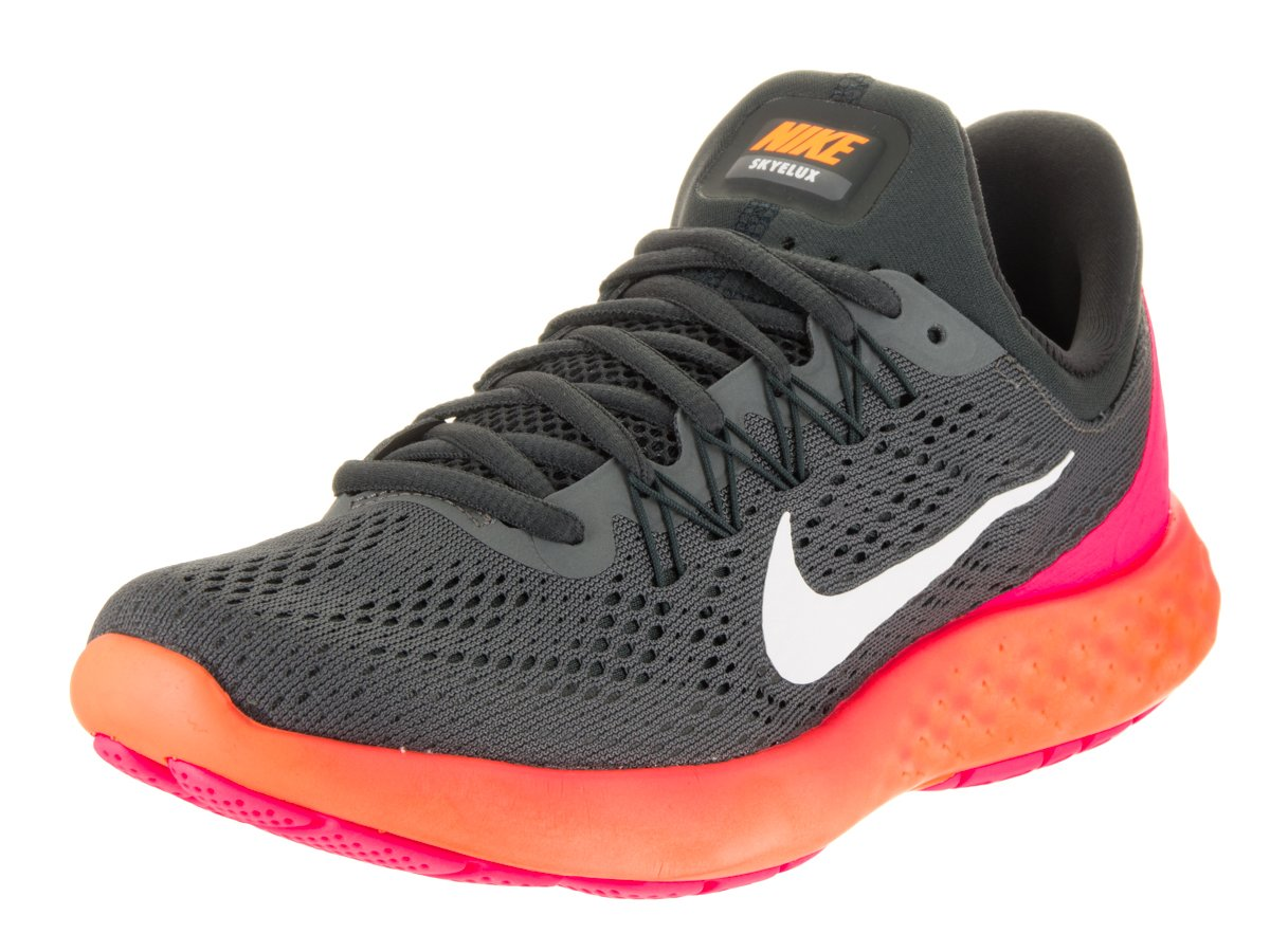 NIKE Womens Lunar Skyelux Round Toe Lace-up Running Shoes B0008DWY08 7 B(M) US|Dark Grey/White/Anthracite/Pink Blast