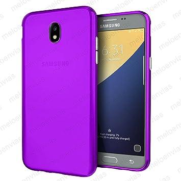 Meloenvias Funda Carcasa para Samsung Galaxy J5 2017 Gel TPU Liso Mate Color Morado: Amazon.es: Electrónica