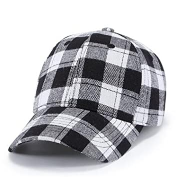 4fc7d2c187a Barry picks Cotton Baseball Cap Men Snapback Hats for Women Plaid Pattern  Dad Hat Female Male