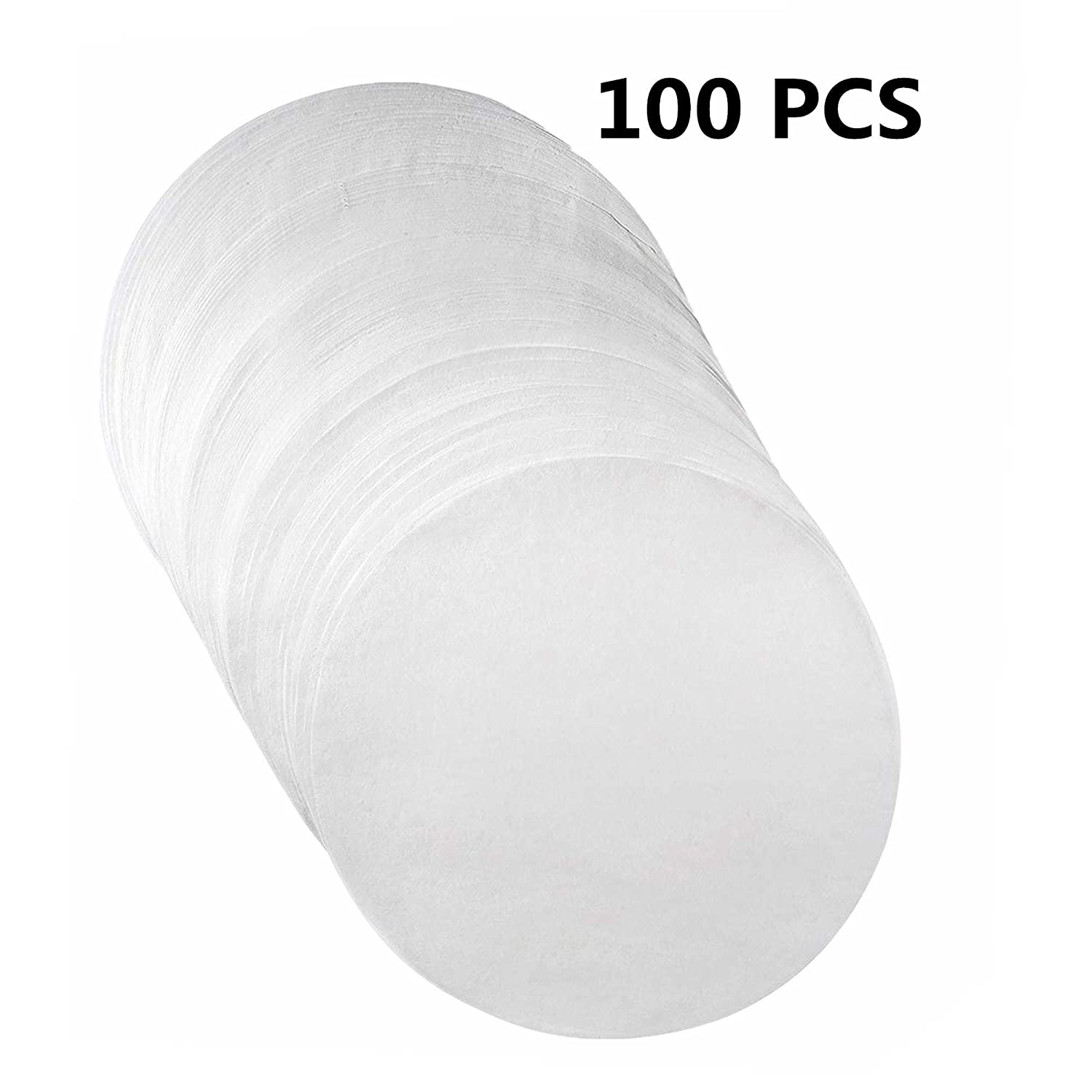 (Set of 100) Non-Stick Round Parchment Paper- 7 inch - 100 Eco-Friendly Pack - Baking Paper Liners for Round Cake Pans Circle Cheesecake, Cooking, Air Fryer 71oubSxBGpL