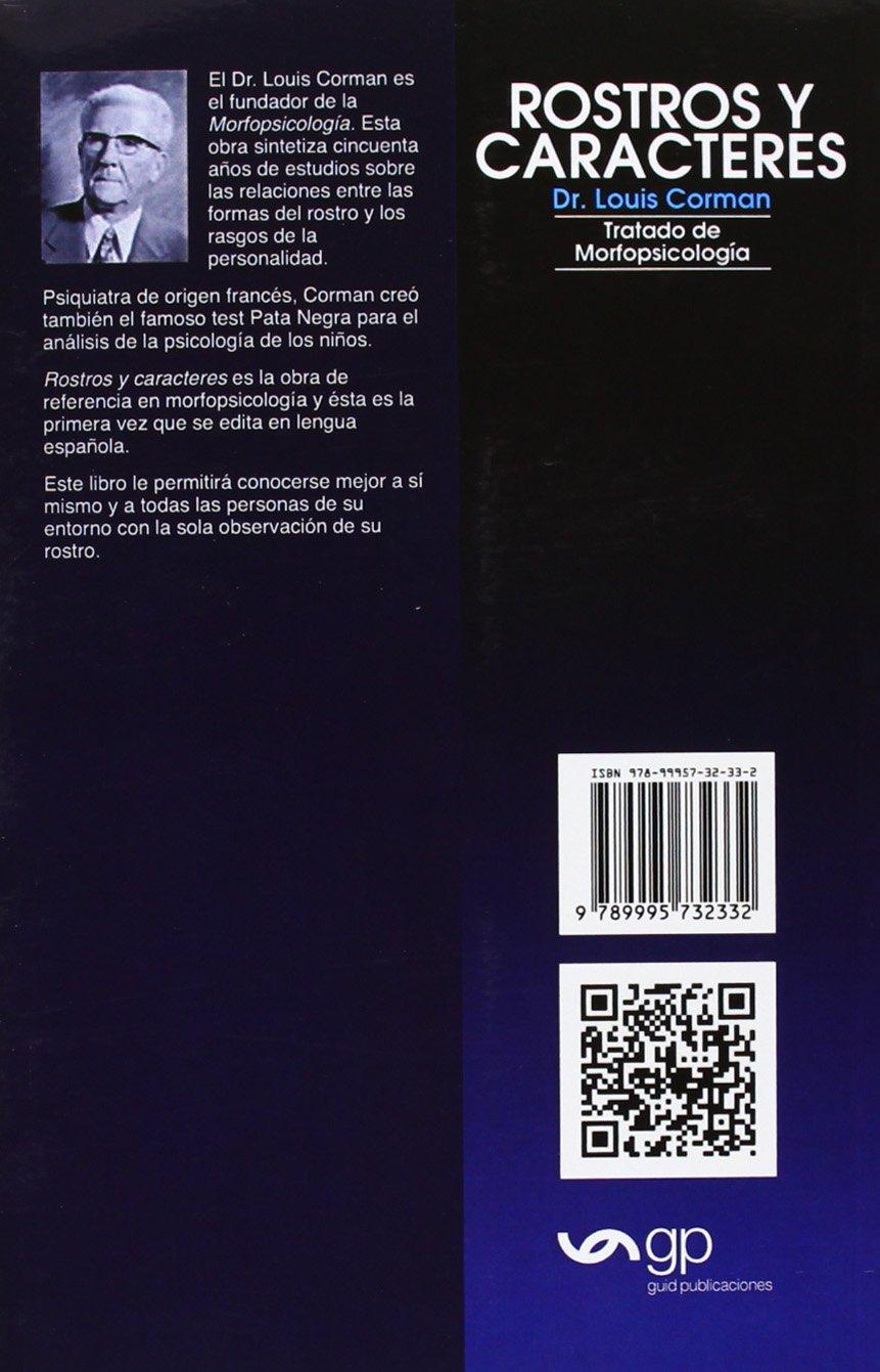 Rostros y caracteres tratado de morfopsicolog a amazon es louis corman libros