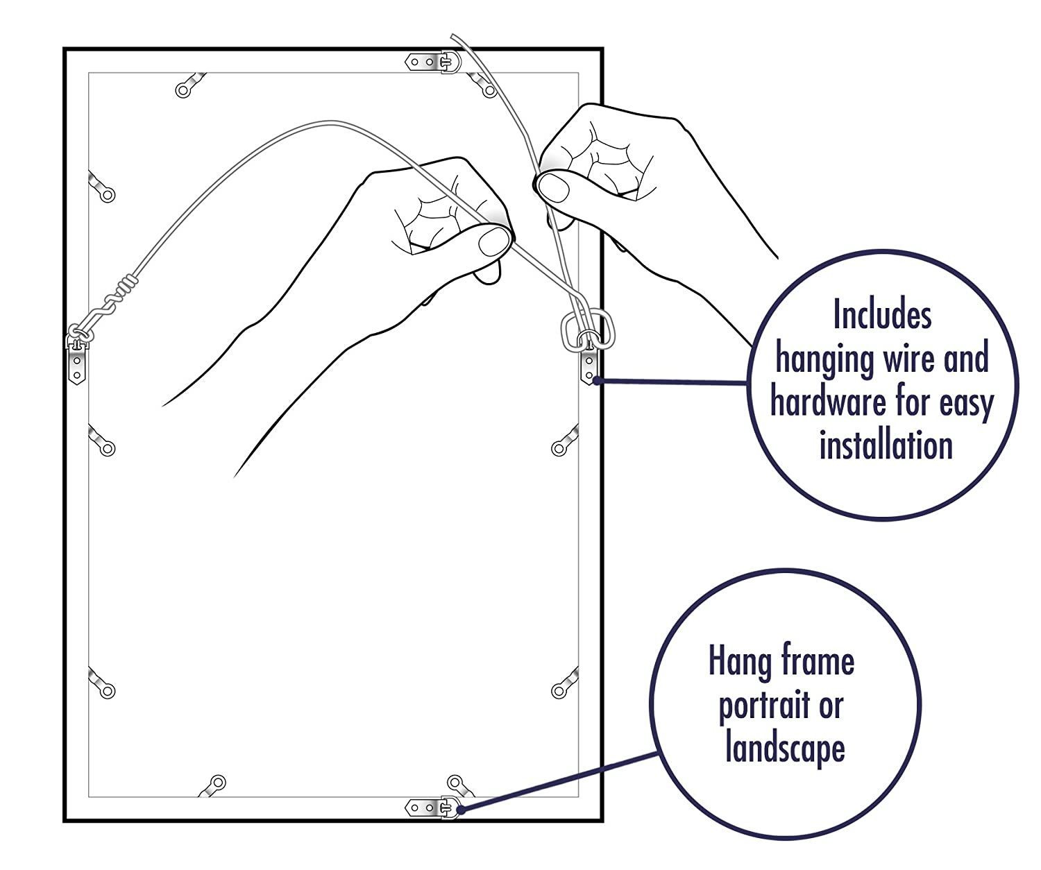 Americanflat Poster Frame White Posters Prints Picture Wire Diagram