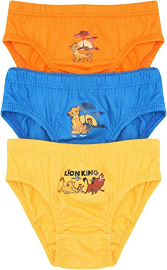 M/&Co Boys The Lion King Briefs Three Pack