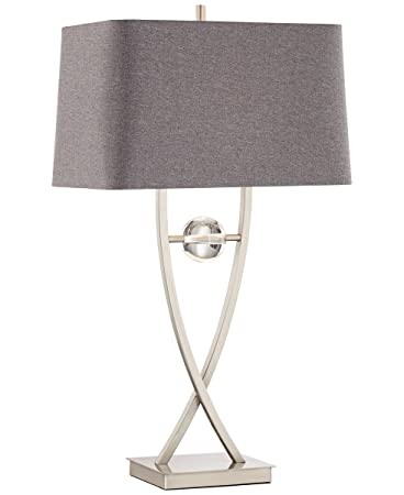 Pacific Coast Lighting Wishbone Table Lamp In Brushed Nickel