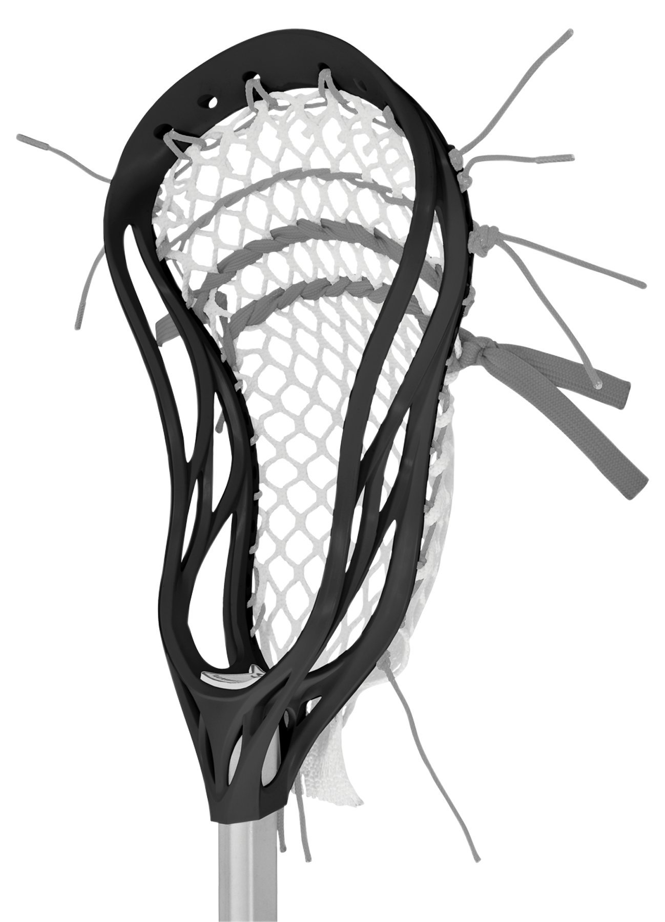 Warrior Evo 4 X Strung Head Lacrose Stick, Black