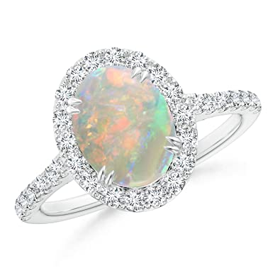 Angara Natural Opal Ring in Yellow Gold - October Birthstone Ring pBPkYwEps